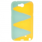 Protective Plastic Back Case for Samsung Galaxy Note 2 N7100 - Sky Blue + Yellow