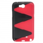 Protective Plastic Back Case for Samsung Galaxy Note 2 N7100 - Red + Black