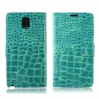 Crocodile Pattern Protective PU Leather Case w/ Card Slots, Holder for Samsung Galaxy Note 3 - Green