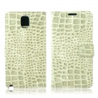Crocodile Pattern Protective PU Leather Case w/ Card Slots, Holder for Samsung Galaxy Note 3 - Grey