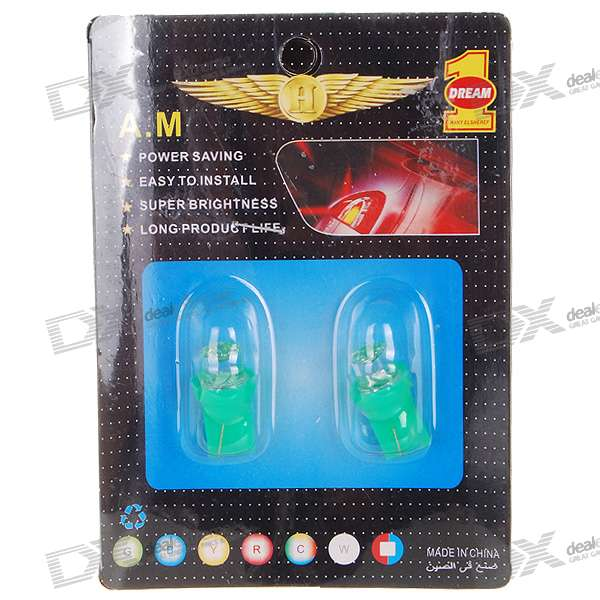 T10 1W 12V Green Light Car Turning Signal Light Bulb (2-Pack) study of mixed number