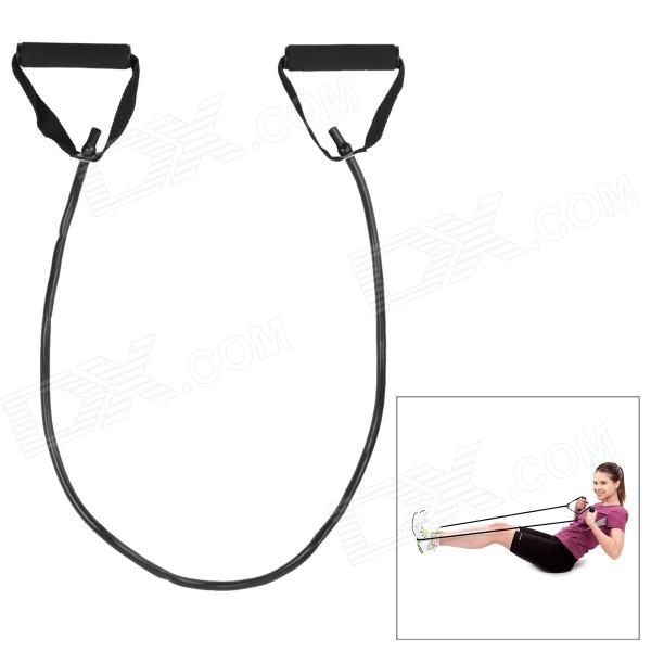 Body Building Training Pull Rubber Rope Exerciser - Black