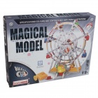 Iron Commander SM178971 Ferroalloy Assembled Eight Piano Toy Ferris Wheel - Silver + Yellow + Red