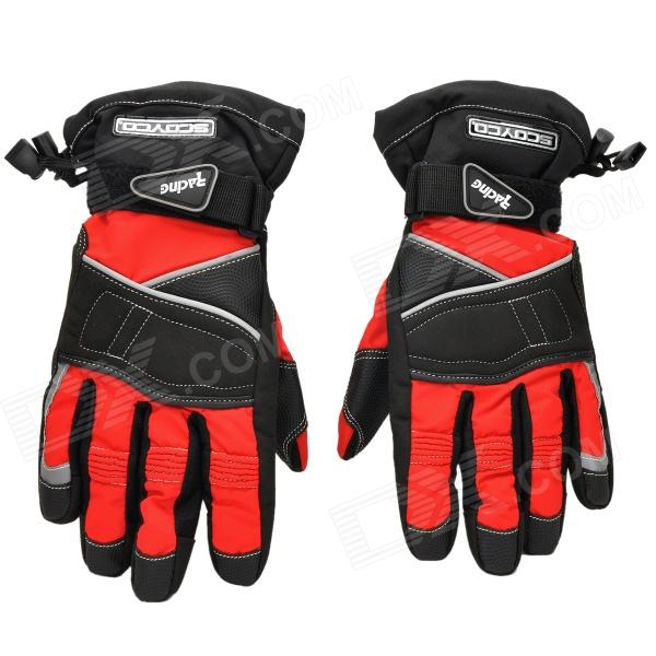 SCOYCO 10MC15 Full-Fingers Motorcycle Racing Gloves - Black + Red (Size XL) good hand full fingers cycling gloves black red pair size xl