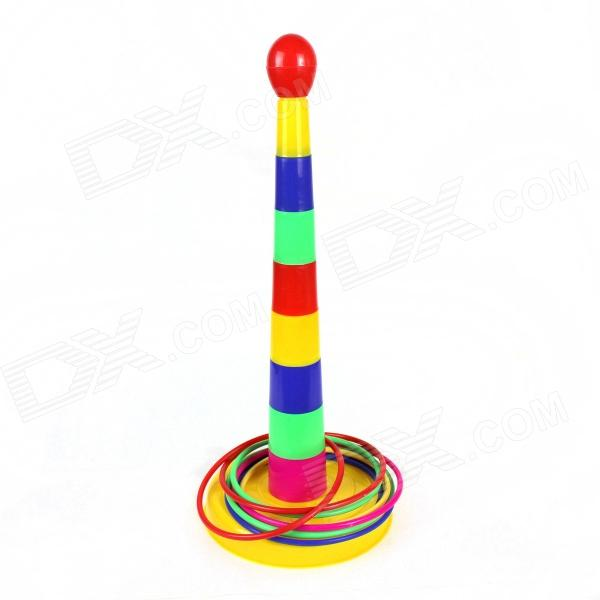 Cool Plastic Throwing Circle Game - Red + Blue + Green + Yellow