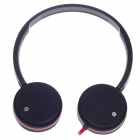 Microkingdom U-779 USB Digital Auto Headphones w/ Microphone - Black + Red (210cm-Cable)