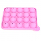 DIY 20-Hole Double-Side Lollipop / Cake Pops Mould - Pink