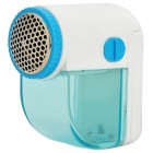 Mini Portable Rechargeable Electronic Sweater / Blanket Clothes Lint Shaver / Groomer - White + Blue