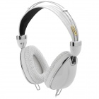 Kanen IP-900 Stylish Headphones w/ Cable Control / Microphone for Iphone / Ipad - White