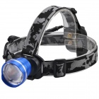 SingFire SF-611B Cree XM-L T6 600lm 3-Mode Zooming Headlamp - Blue + Black (1 x 18650)