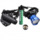 SingFire SF-611B 600lm 3-Mode Zooming Headlamp w/ Cree XM-L T6 - Blue + Black (1 x 18650)