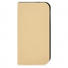 GTcoupe i-001 Protective Flip Open PU Leather Case w/ Stand for Iphone 5 - Wheat + Black