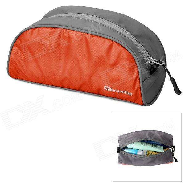 NatureHike Ultra Lightweight Nylon Travel Toiletry Bag - Orange + Gray