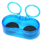 PS-5006 Plastic Double Drink Stand Holder - Translucent Blue