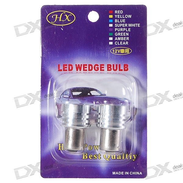 3W 12V 6-LED Blue Light Car Brake Signal Light Bulbs (2-Pack)