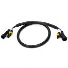 HID Bulb Extender High Voltage Extension Cables for Car - Black (50 CM)
