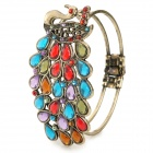 Bohemia Colorful Peacocks Style Zinc Alloy + Artificial Crystal Bracelet - Multicolor