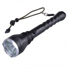 SingFire SF-129 Cree XM-L T6 600lm 5-Mode White Flashlight - Black + Silver (2 x 18650)