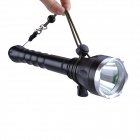 SingFire SF-129 600lm 5-Mode White Flashlight w/ Cree XM-L T6 - Black + Silver (2 x 18650)