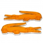 Crocodile Estilo Car Reflective Sticker - Amarelo + Silver (2 PCS)