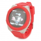 "KICCY A6 Water Resistant Bluetooth Smart Watch Phone w/ 1.54"", FM for Android and iOS - Red"