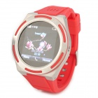 "KICCY A8 Water Resistant Bluetooth Smart Watch Phone w/ 1.54"", FM for Android and iOS - Red"