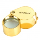 ZnDiy-BRY MG55367 Mini 30X Stainless Steel Optical Lens Magnifier - Golden