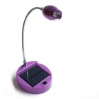 One percent L06 Solar Powered Self-Recharge 1W 80lm 6000K LED Table Lamp with Flexible Neck - Purple