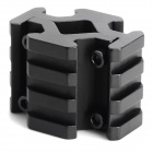Aluminum Alloy Four-Sided 20mm Scope Gun Mount - Black