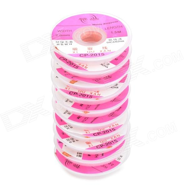 WLXY WL-2015 2.0mm Copper Desoldering Braid Soldadura Remover Wick - Golden