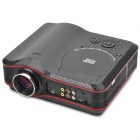Portable Home Theater DVD Projector w/ SD/ Antenna / AV - Red + Black