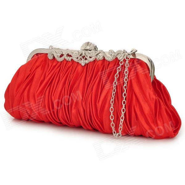 WYHB-1 Women's Plicated Style Handbag - Red