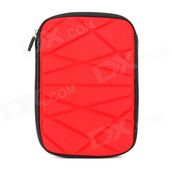 Irregular Pattern Protective Zippered Neoprene Bag Pouch for Ipad MINI - Red soft neoprene protective pouch case for ipad 9 7 tablets black