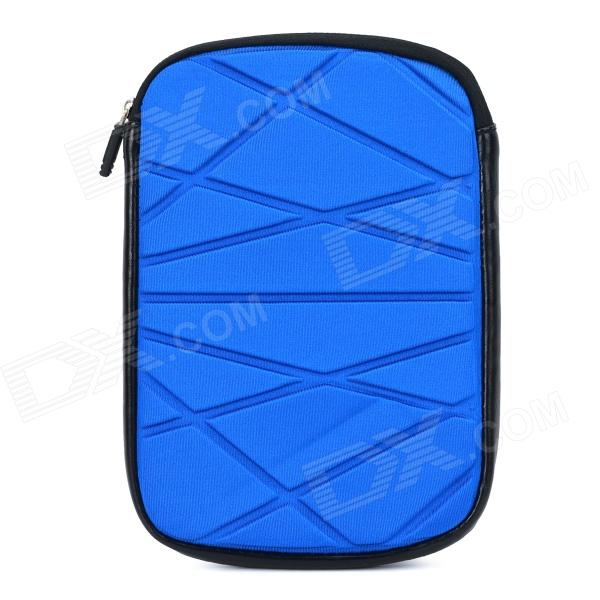 Irregular Pattern Protective Zippered Neoprene Bag Pouch for Ipad MINI - Blue for ipad mini