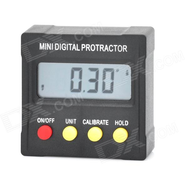 Mini Digital 1.6 LCD 360-Degree Slope Angle Upright Magnet Protractor Inclinometer Angle Meter simple fashion table desktop is mdf fine processing the leg of the table is made of solid beech black and white can be chosen