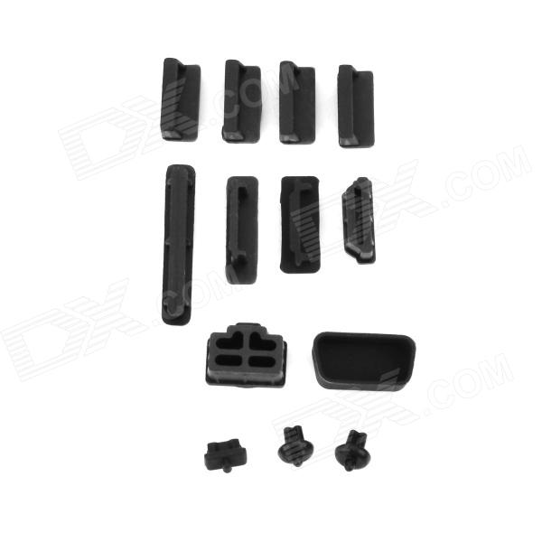 YU-962 13-in-1 Chassis Laptop Dust-Proof Plugs Set - Black