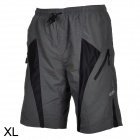 Santic C05017 Outdoor Cycling Men's Breathable Anti Shock Short Pants - Black + Grey (Size XL)