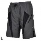 Santic Outdoor Cycling Men's Breathable Anti Shock Short Pants - Black + Grey (Size L)