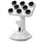 JX1-020 Universal 360 Degree Roation Car Mount Holder w/ Suction Cup for iPhone, Samsung - White