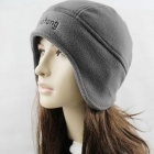 Outdoor Sports Ears Protection Earmuff Warm Keeping Fleece Hat - Grey