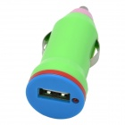 SB Car Charger Power Adapter - Green + Pink + Blue (DC 12~24V)