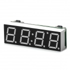 YaoSheng 4-Digit Yellow LED Clock w/ Thermometer / Voltmeter (5~15V)