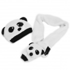 Panda Style Kid's Warm Hat + Scarf Set - Black + White