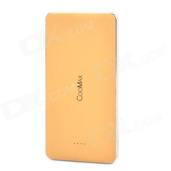 COOMAX C6 13000mAh Mobile Power Bank for Smartphone / Tablets - Brown (5V / 48cm-cable)