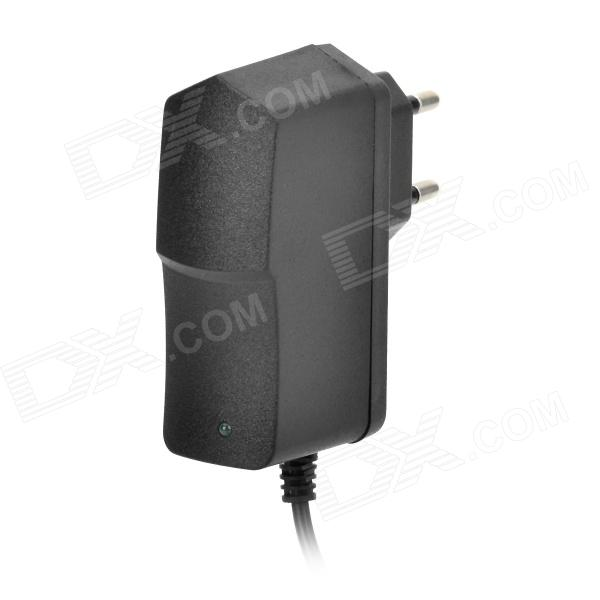 LJY-186 AC 100~240V to DC 12V 1A EU Plug Power Adapter - Black