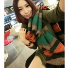 Fashionable Women's Polyester Scarf - Multicolored