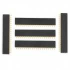 YS-532 Single-Row 20Pin Female Headers - Black (5 PCS)