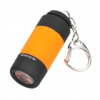 USB Rechargeable Water Resistant 0.5W LED White Flashlight - Black + Orange