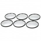 SY-030 Universal Sticky Blind Spot Mirrors for Car Rearview Mirror - Black + Silver (6 PCS)