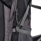 Creeper YD-200 Outdoor Sport Travel Nylon Backpack - Black + Grey